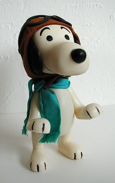 boucher associates peanuts pocket doll: flying ace snoopy (1966-7) by j_pidgeon, via Flickr