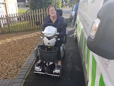 Mrs Cook on her Vitess 2 mobility scooter with Q-Cam option fitted. get your demo here http://contact.quingoscooters.com/social-mobility-scooters