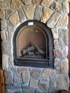 arched gas fireplace for small room