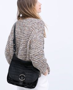 BUCKLED LEATHER MESSENGER BAG-Handbags-WOMAN   ZARA United States