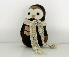 Crocheted Scarf Additional Sock Animal Feature by TheNestingSpot