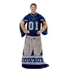 Dallas Cowboys NFL Uniform Comfy Throw Blanket w/ Sleeves $50.53
