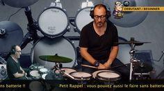 Apprendre le rythme de base à la batterie facilement Cours N°4 - Le ryth...