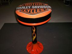 Stool Harley Davidson Theme Old School Really Cool Old Stool