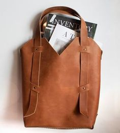 Librarian Leather Tote I A perfect handmade bag to help you carry your favorite Autumn reads.