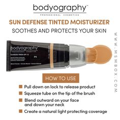 Bodyography Sun Defense Tinted Moisturizer Soothe and protect the skin