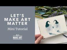 Watercolor Postcard, Watercolor Art Diy, Watercolor Projects, Postcard Art, Watercolour Tutorials, Watercolor Animals, Watercolor Techniques, Let's Make Art, Patience
