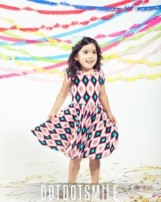 Eva's favorite dress - kids Dot Dot Smile by LulaRoe Lularoe Kids Dresses, Kids Lularoe, Lularoe Party, Dot Dot Smile, Lula Roe Outfits, Kid Styles, Kids Outfits, Kids Fashion, Fashion Dresses