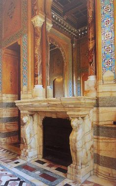 The Neo-Mauresque bathroom in the Hotel de la Païva in Paris, with a fireplace made out of onyx. Exterior Design, Interior And Exterior, Architectural Antiques, North Africa, Middle Ages, Making Out, 19th Century, Two By Two, Museum