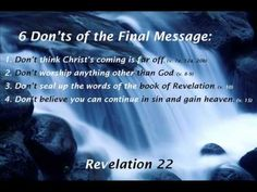 6 Don'ts Of The Final Message (Revelation 22:1-21)