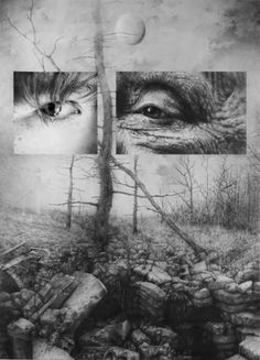 Between youth and old age spans an infinite universe.                   Chasm, pencil, by Armin Mersmann