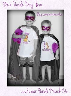 Be a Purple Day Hero and raise awareness for epilepsy March 26