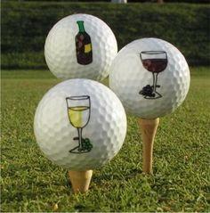 #Wine #Golf #Balls #white #red #bottle | Golf | Pinterest