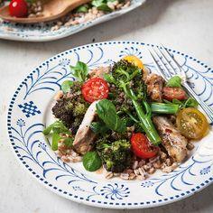 Chicken, Broccoli and Spelt Salad   sheerluxe.com