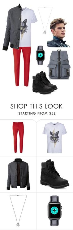 """""""Modern Young Man (Date @ Disney Land)"""" by emrui ❤ liked on Polyvore featuring Topman, Kloters Milano, LE3NO, Timberland, Northskull, Dune, modern, men's fashion and menswear"""
