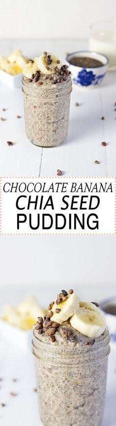 Chocolate Banana Chia Seed Pudding!