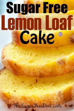 This is the recipe for Sugar Free Lemon Loaf Cake YUM! I love this Sugar Free Lemon Loaf Cake. Sugar Free Deserts, Sugar Free Sweets, Sugar Free Cakes, Sugar Free Lemon Cake, Sugar Free Muffins, Sugar Free Snacks, Sugar Free Diet, Sugar Free Pound Cake Recipe, Sugar Free Meals