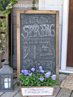 DIY:: Gorgeous Spring Front Porch full of #DIY Ideas !! by @Daune Fricks Pitman Cottage In The Oaks !