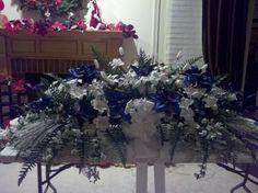 Silk funeral flowers by Gloria