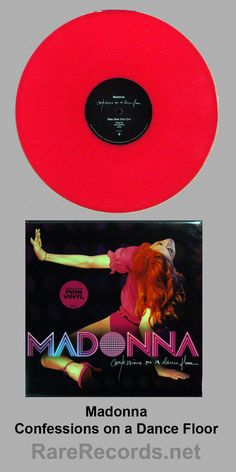 Madonna - Confessions on a Dance Floor (2005)  Limited edition pressing on pink colored vinyl.  #madonna #records #vinyl #albums #coloredvinyl