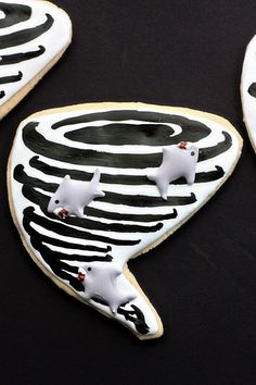 Shark Week: Sharknado Cookies - I give whoever made these a huge hi-five because this is incredible!!!