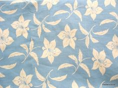 Extra Wide Powder Blue and White Floral Print by theDelhiStore, $20.00
