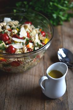 Gluten Free Pasta Salad with Roasted Shallot Vinaigrette | Gluten Free on a Shoestring