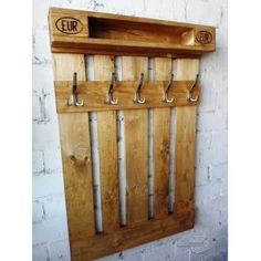 Ahşap Askılık Portmanto Rustic Recycled Pallets, Carpentry, Recycling, Wood Pallet Furniture, Woodworking, Joinery, Upcycle, Woodwork