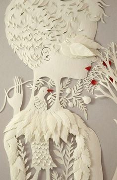A hand-cut paper bas-relief sculpture made by elsita on etsy (on reserve for someone)