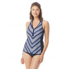 6c8316f254 Beach House Erinna Racerback Zipper Front Tankini Top - Gypsea Beach House  Swimwear