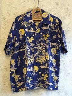 76498e823 希少SUN SURF*KEONI OF HAWAII*アロハ*レア*M品番⑧_MOONLIGHT HULA柄. Al Lin · Aloha Shirt