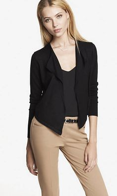 DRAPE FRONT CROPPED BACK COVER-UP | Express