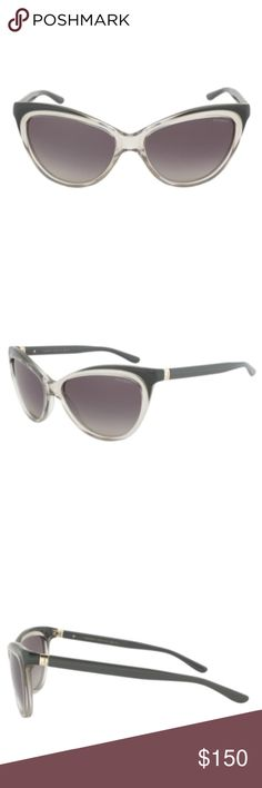 YSL Cateye sunglasses The cateye is an immensely popular sunglass style which the world renowned design house has succeeded in reinventing with this inspirational offering. These Yves Saint Laurent YSL 6358/S Sunglasses are well constructed, using a grey and clear transparent cateye frame as its foundation. This well rounded design is successfully consummated with the grey gradient lenses, grey arms and gold toned branded hinges. Measuring 57-15-135. Case included. Country of origin: Italy…