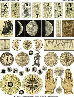 Mystical Image Sheet from ArtChixStudio.com For superstition mirror