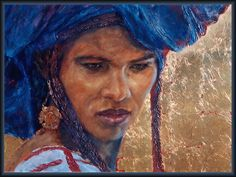 pintura mujer tuareg