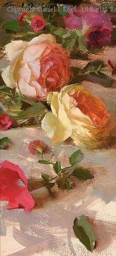 Roses - Oil by Daniel J. Keys