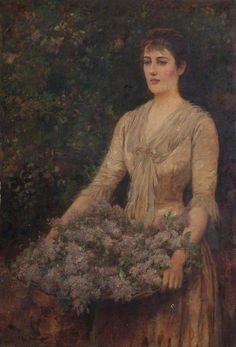 A Load of Lilac (Portrait of a Lady) - Arthur Hopkins (1893)