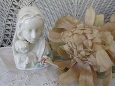 Beautiful Vintage MADONNA AND CHILD Figurine Made by recycledrita, $14.95