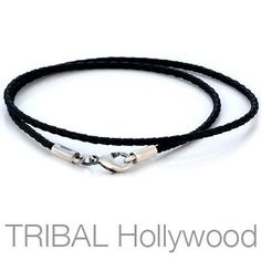 Bling Jewelry 3mm Black Braided Leather Cord Silver Plated Necklace G8wBqR5X
