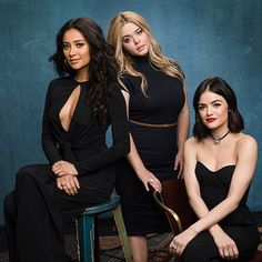 "185.4k Likes, 448 Comments - Pretty Little Liars (@prettylittleliars) on Instagram: ""3/5ths of the most perfect power squad. ✌ #PLL #PrettyLittleLiars"""