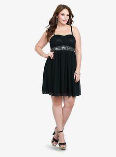d205aa8b8fe Lace Detailed Chiffon Dress