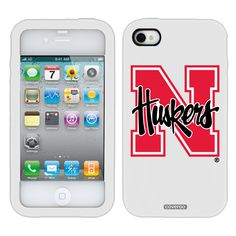 University of Nebraska N Huskers Schools design on iPhone 4 / 4S Guardian Case by Coveroo in White-white