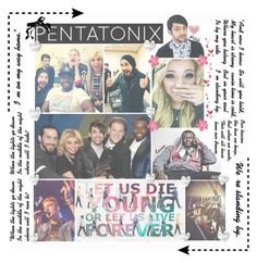"""Pentatonix Tag"" by graywolf145 ❤ liked on Polyvore featuring art"