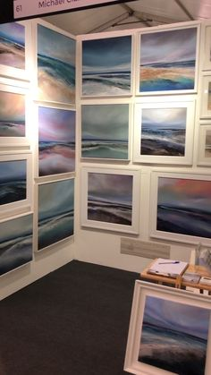 Set up for the Windsor Contemporary Art Fair, final preparations getting ready for the private preview evening