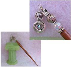 Silver Celtic Knot Charm Beaded Wooden Hair Stick  http://cgi.ebay.com/ws/eBayISAPI.dll?ViewItem=150994475943