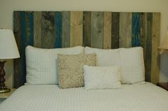 Hanger * Full Headboard - Winter Mix Color. Made with 3 Barn Walls blocks. Hang on the wall like picture frames. Easy Installation