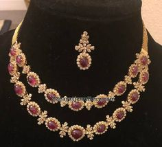 Ruby Diamond Necklace - Jewellery Designs