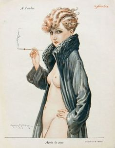 Maurice Milliere  (1871–1946) was a French illustrator who studied at l'Ecole des Arts Decoratifs and l'Ecole des Beaux-Arts in Paris. He was a contemporary of Louis Icart. Milliere served as an early inspiration to Vargas. His art is obviously a precursor to the Pin Up art we know today.