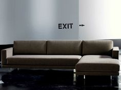 SIMPLE Sofa with chaise longue by Hoffmann