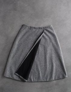 DIY: wool wrap skirt